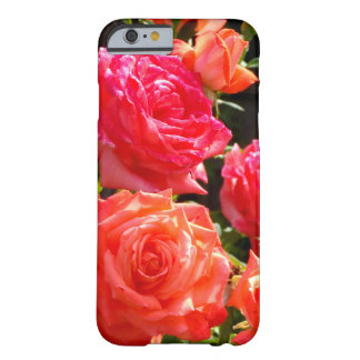 Coque Barely There iPhone 6 Roses de corail romantiques
