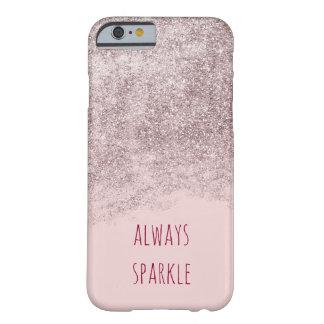 Coque Barely There iPhone 6 Scintillement rose de Faux d'étincelle