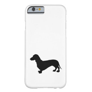Coque Barely There iPhone 6 Silhouette de teckel