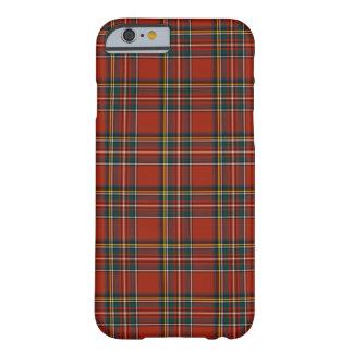 Coque Barely There iPhone 6 Tartan classique rouge et bleu de Stewart royal