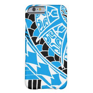 Coque Barely There iPhone 6 Tatouage polynésien bleu de LineA
