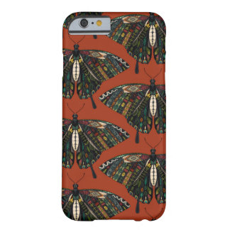 Coque Barely There iPhone 6 terre cuite de papillon de machaon