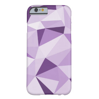 Coque Barely There iPhone 6 Triangles abstraites géométriques pourpres