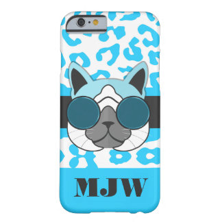 Coque Barely There iPhone 6 Un poster de animal et monogramme frais de