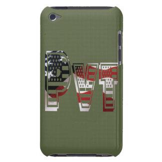 Coque Barely There iPod Américain militaire privé Pvt de vert d'armée des