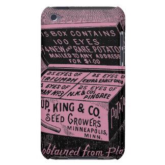Coque Barely There iPod Annonce vintage étrange de pomme de terre