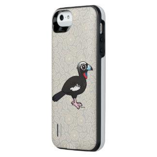 Coque Batterie Pour iPhone SE/5/5s Birdorable Noir-a affronté Guan sifflant
