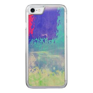 Coque Carved iPhone 8/7 Abrégé sur bleu étoiles d'étincelle de brume