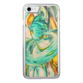 Coque Carved iPhone 8/7 Abrégé sur pastel de bonheur extrême