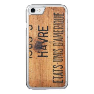 Coque Carved iPhone 8/7 Caisse en bois vintage fraîche 3 en bois