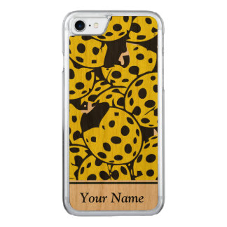 Coque Carved iPhone 8/7 Coccinelle jaune