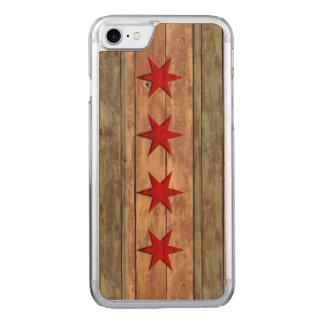 Coque Carved iPhone 8/7 Drapeau vintage de Chicago affligé