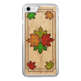 Coque Carved iPhone 8/7 Feuille de chute