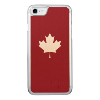 Coque Carved iPhone 8/7 Feuille d'érable blanche du Canada