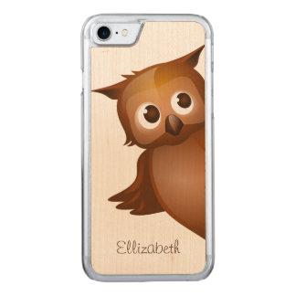 Coque Carved iPhone 8/7 Monogramme drôle nommé fait sur commande mignon