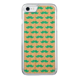 Coque Carved iPhone 8/7 Motif bleu et blanc 1 d'Aqua de moustache