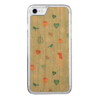 Coque Carved iPhone 8/7 Motif de paquet de Joyeux Noël - motif de Noel