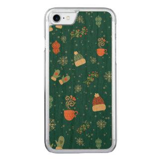 Coque Carved iPhone 8/7 Motif de paquets de Joyeux Noël - motif de noel