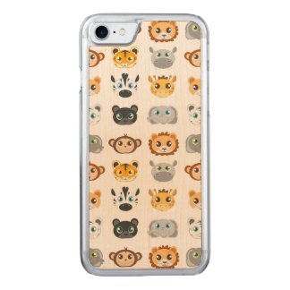 Coque Carved iPhone 8/7 Motif mignon d'animaux de jungle