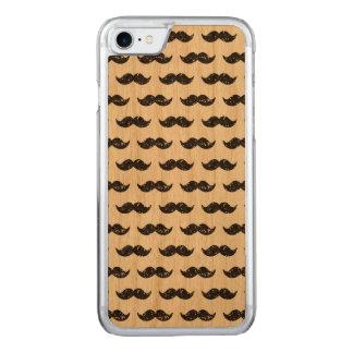 Coque Carved iPhone 8/7 Motif noir de moustache de scintillement imprimé