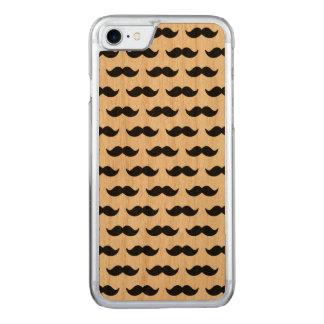 Coque Carved iPhone 8/7 Motif noir et blanc 1 de moustache d'amusement