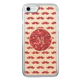 Coque Carved iPhone 8/7 Motif rose de moustache de scintillement votre