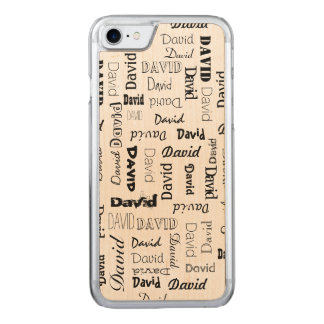 Coque Carved iPhone 8/7 Noms 5 lettres longtemps