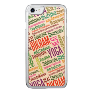Coque Carved iPhone 8/7 Nuage de mot de yoga de Bikram - yoga chaud