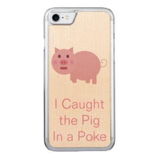 Coque Carved iPhone 8/7 Porc dans une poussée
