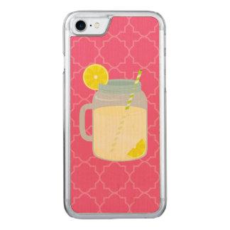 Coque Carved iPhone 8/7 Pot de maçon de limonade Quatrefoil