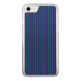 Coque Carved iPhone 8/7 Pourpre de vert bleu de rayures verticales