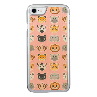 Coque Carved iPhone 8/7 Rose mignon de motif d'animaux de jungle