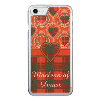 Coque Carved iPhone 8/7 Tartan d'écossais de plaid de clan de Crawford