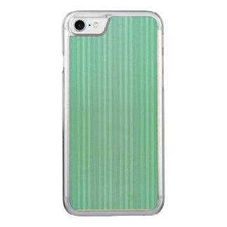 Coque Carved iPhone 8/7 Teal bleu vert et motif vert de rayures verticales