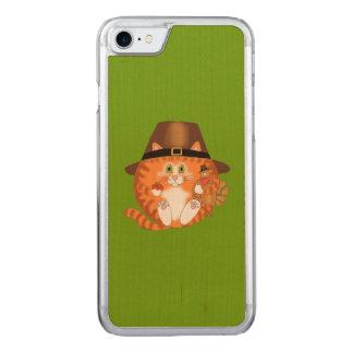 Coque Carved iPhone 8/7 Thanksgiving de chat de babiole