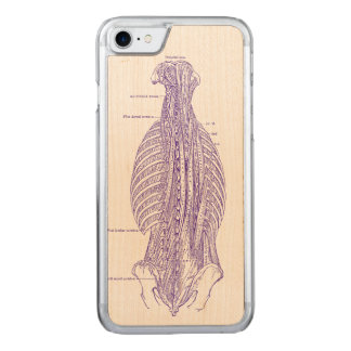 Coque Carved iPhone 8/7 Vieille illustration anatomique le dos