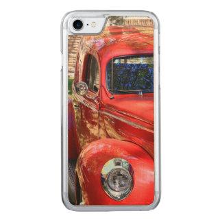 Coque Carved iPhone 8/7 Voiture rouge classique