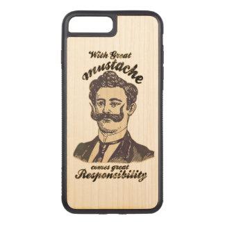 Coque Carved iPhone 8 Plus/7 Plus Avec la grande moustache, vient la grande