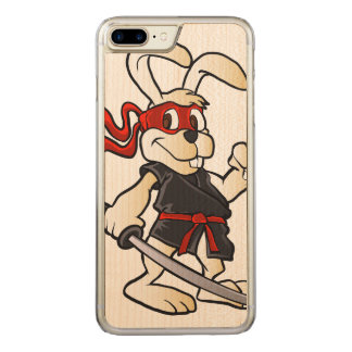 Coque Carved iPhone 8 Plus/7 Plus bande dessinée de lapin de ninja