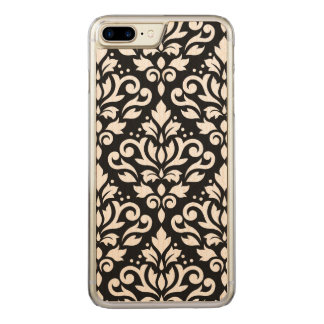 Coque Carved iPhone 8 Plus/7 Plus Bordure de noir de motif de damassé de rouleau