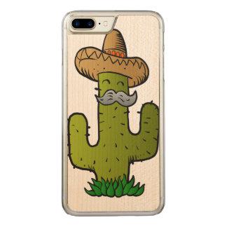 Coque Carved iPhone 8 Plus/7 Plus cactus mexicain avec la moustache