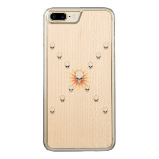 Coque Carved iPhone 8 Plus/7 Plus Croix orange mystérieuse de rayon de soleil de
