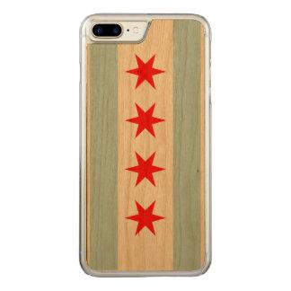Coque Carved iPhone 8 Plus/7 Plus Drapeau de Chicago
