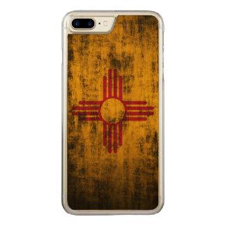 Coque Carved iPhone 8 Plus/7 Plus Drapeau grunge vintage d'état du Nouveau Mexique