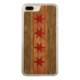 Coque Carved iPhone 8 Plus/7 Plus Drapeau vintage de Chicago affligé
