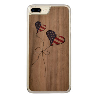 Coque Carved iPhone 8 Plus/7 Plus L'amoureux patriote des Etats-Unis marque
