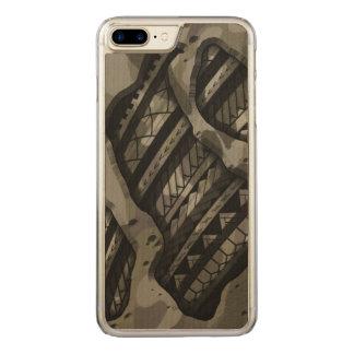 Coque Carved iPhone 8 Plus/7 Plus Les militaires tribaux camouflent la conception de