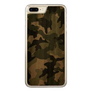 Coque Carved iPhone 8 Plus/7 Plus Les militaires verts frais de Camo camouflent le