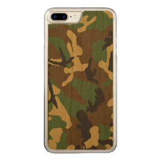 Coque Carved iPhone 8 Plus/7 Plus Motif vintage de camouflage