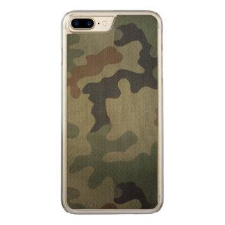 Coque Carved iPhone 8 Plus/7 Plus Motif vintage de style de camouflage
